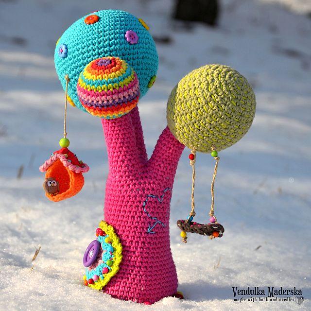 Crochet pattern - Rainbow tree by VendulkaM