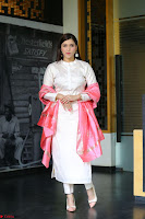 Mannara Chopra in Silky White Salwar Suit with Pink Chunni Latest Exclusive Pics March 2017 ~  042.JPG