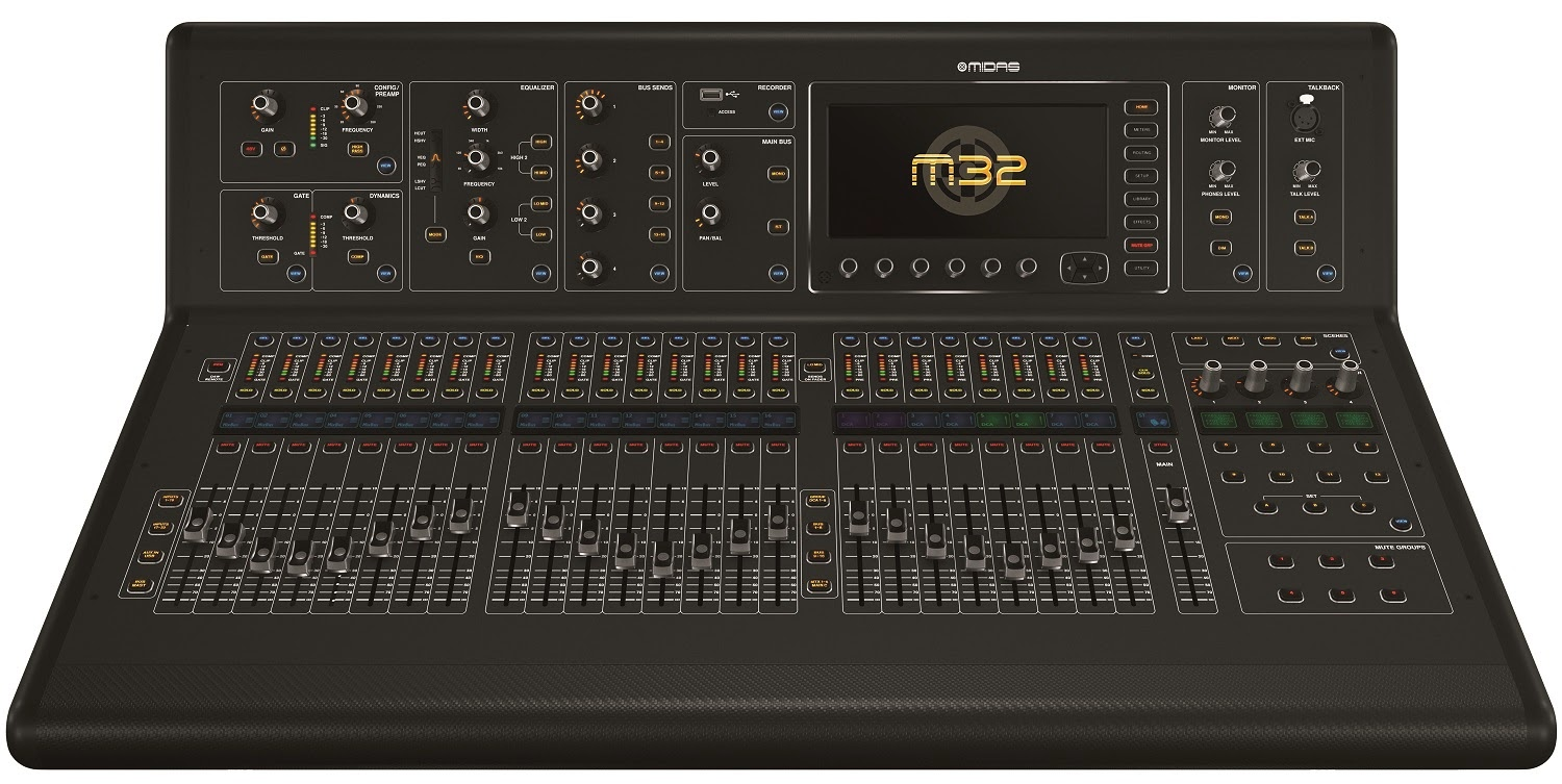 zinzen midas announces new m32 digital mixer based on the x32 architecture for 5 000. Black Bedroom Furniture Sets. Home Design Ideas