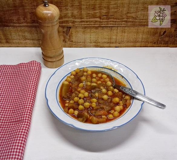 Callos Vegetales con Garbanzos, receta vegana.