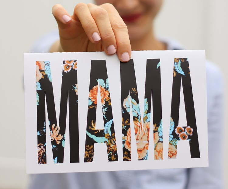 modern mother's day card