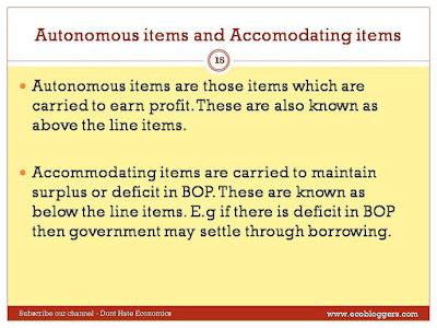 accomodating items and autonomous items