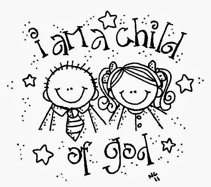 Coloring pages god ~ Melonheadz LDS illustrating: I am a child of God