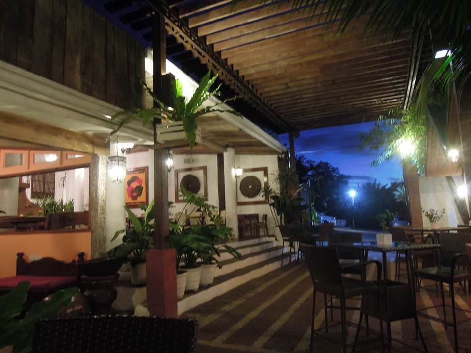 Tables and chairs at Bag of Beans Tagaytay