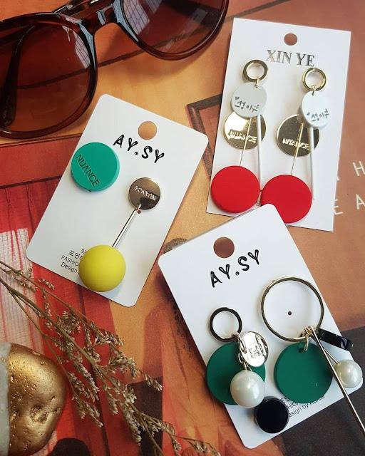 Dijual perhiasan imitasi impor modis berkualitas KWANG EARRING, Toko Online Jakarta