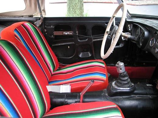 Car Blanket: THE ANALOG ALMANAC: Mexican Blanket Car Interiors