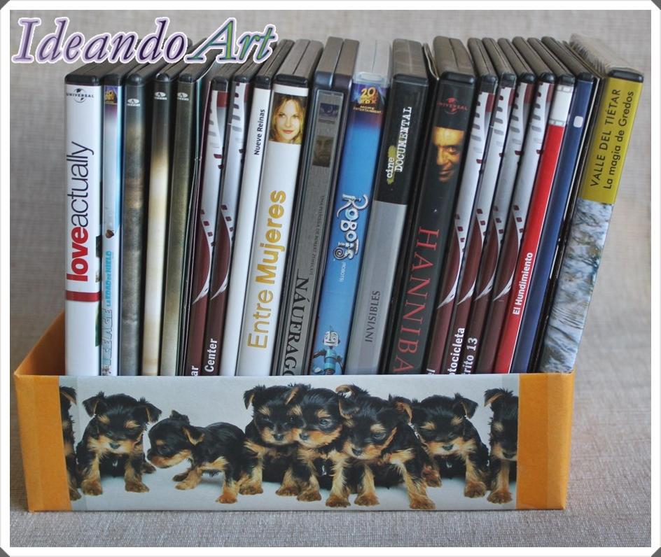 Caja reutilizada para DVDs