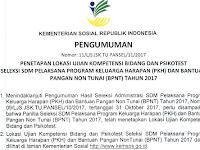 Inilah Jadwal dan Lokasi Tes Seleksi PKH Kemensos 2017