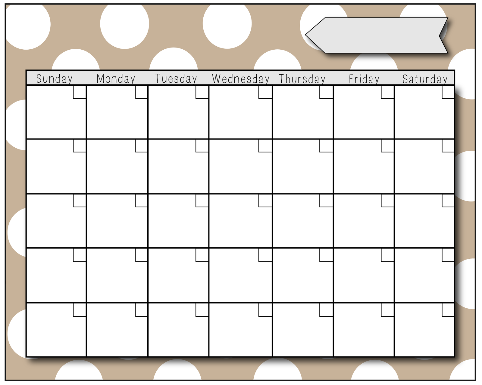 empty calendar template 2015