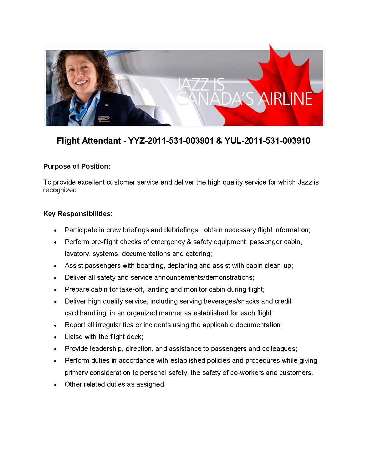 Cover letter flight attendant position | College paper