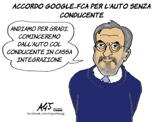 marchionne, FCA, google, automobile, vignetta, satira