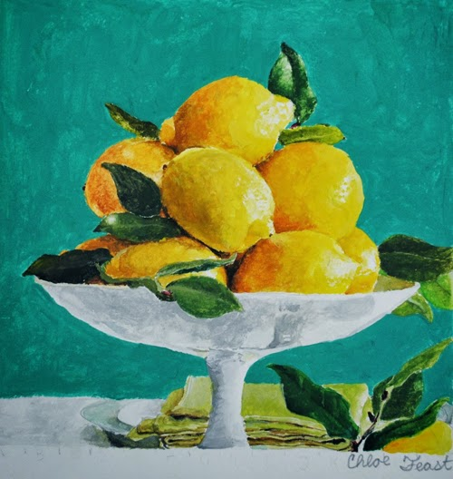 lemons in acrylic