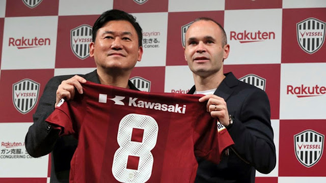 Iniesta joins Japanese club Vissel Kobe