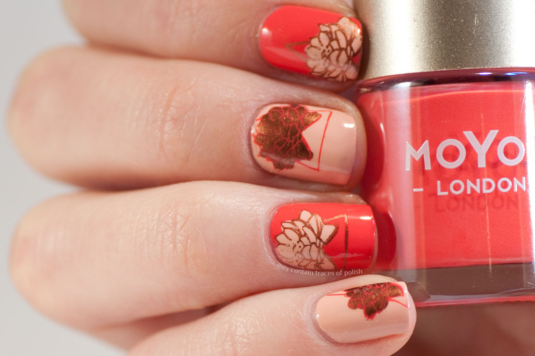 Advanced stamping nail art with MoYou Flower Power 21