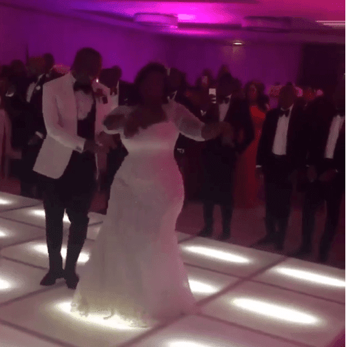 Check Out Toolz & Tunde Demuren's first dance as husband & wife (see photos)