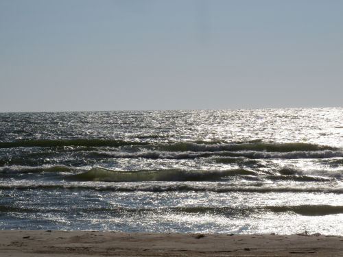 sunlight on waves on Lake Michigan