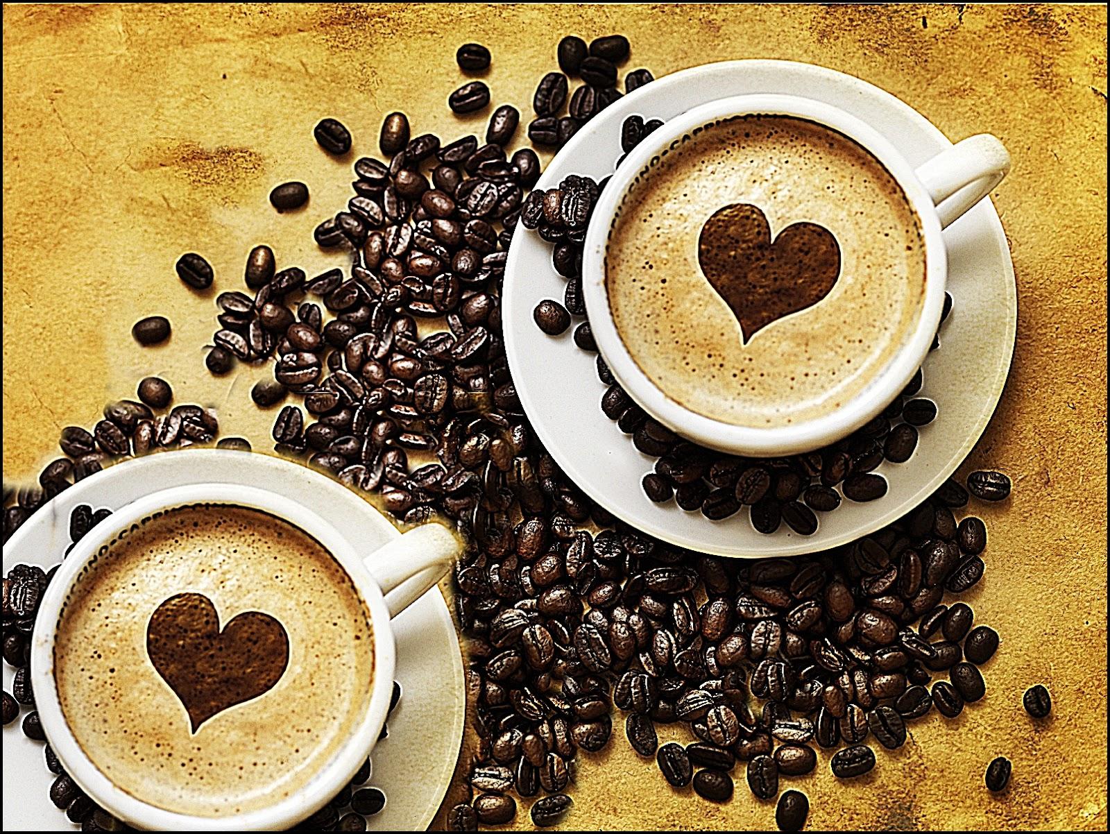 Друг, открытки две чашечки кофе