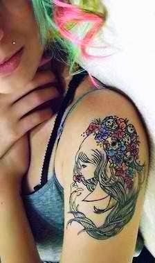 So cute arm tattoo for girls