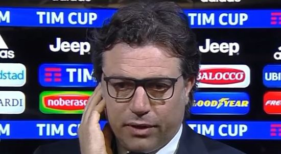 """NAPOLI, Giuntoli: """"Decisioni dell'arbitro vergognose. Complimenti ai ragazzi""""."""