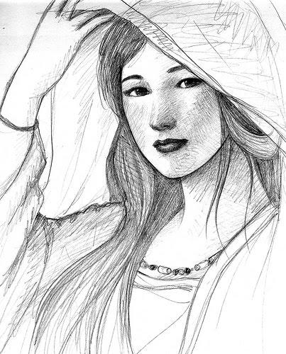 Gambar Wajah Manusia : gambar, wajah, manusia, Lukisan, Wajah, Manusia, Dengan, Pensil, Cikimm.com