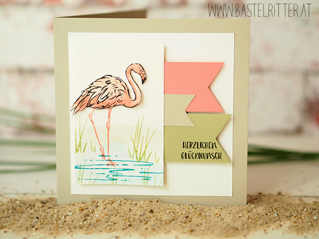 Stampin up Flamingo Fantasie Bastelritter