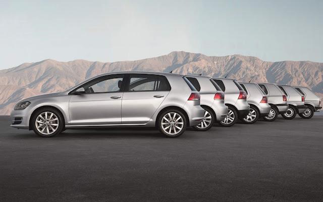 Volkswagen Golf: gerações 1 a 7 - imagens e informações