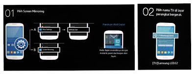 Cara screen mirroring hp ke tv