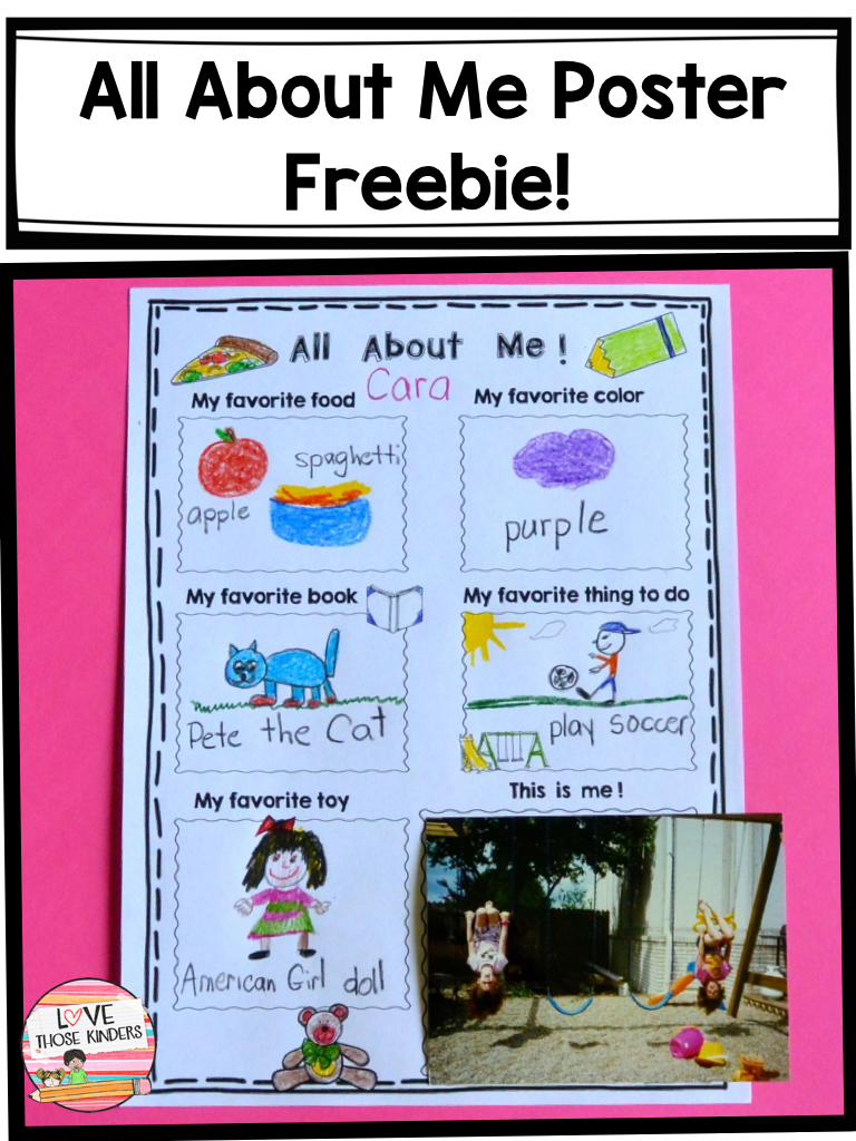 All about Me mini poster (Freebie) | Love Those Kinders