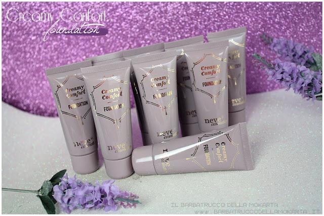 creamy confort foundation Fondotinta Neve Cosmetics review