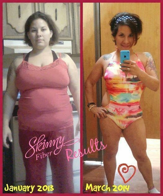 Keri got swimsuit ready with Skinny Fiber weight loss program.