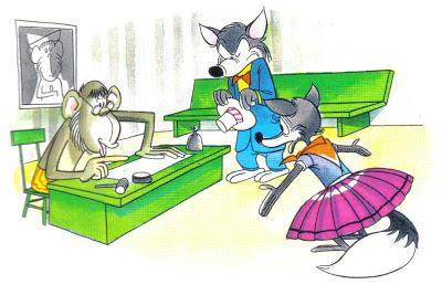 el lobo la zorra el mono juez fabula samaniego