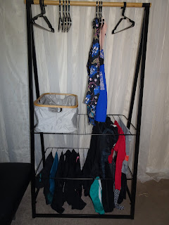 clothes hanging on dryer