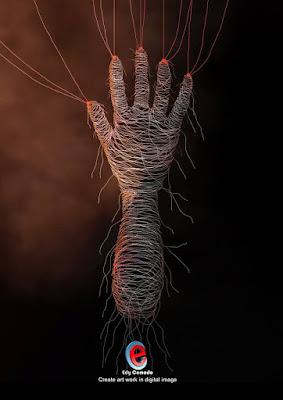 Digital Image : String Hand