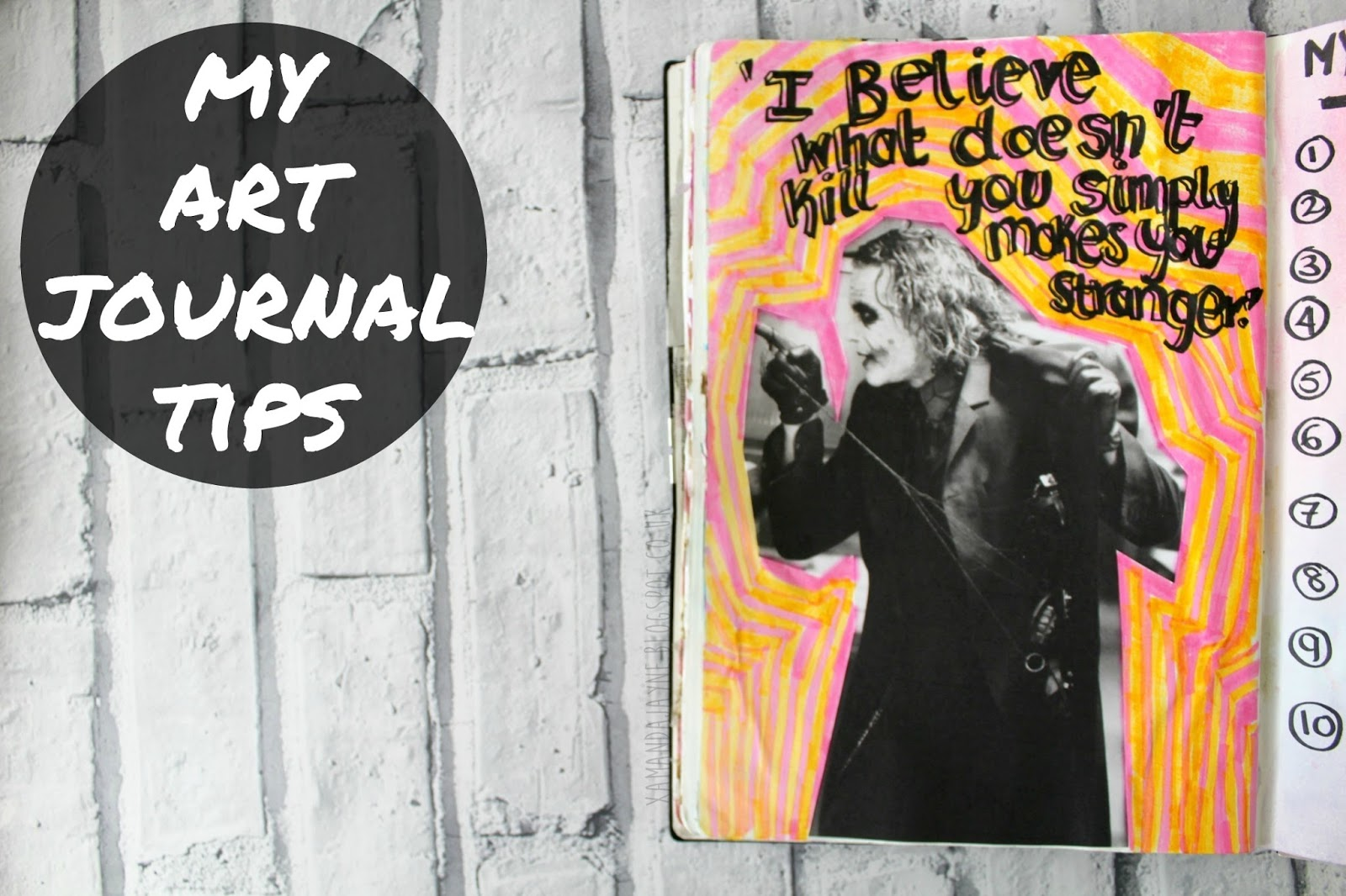 art journal, tips and tricks, art, creative, art journalling for beginners, how-to art journal