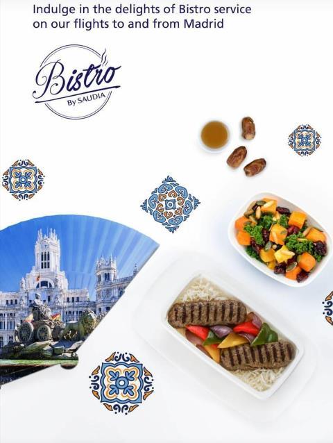 """""""Bistro by Saudia"""", la excelencia en el catering a bordo ya disponible en los vuelos desde Madrid de Saudia Airlines"""