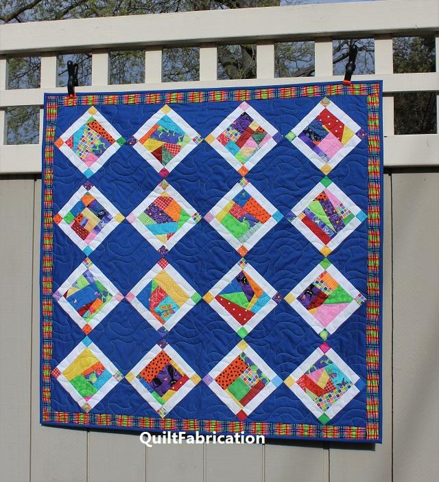 Crumb Jumble Baby quilt