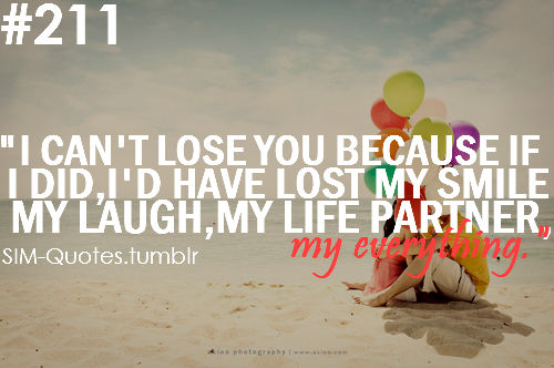 ''I CAn't Lose You Because If I Did