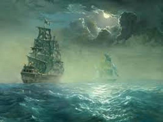 Gambar Misteri Penampakan Kapal Hantu Dilaut Lepas