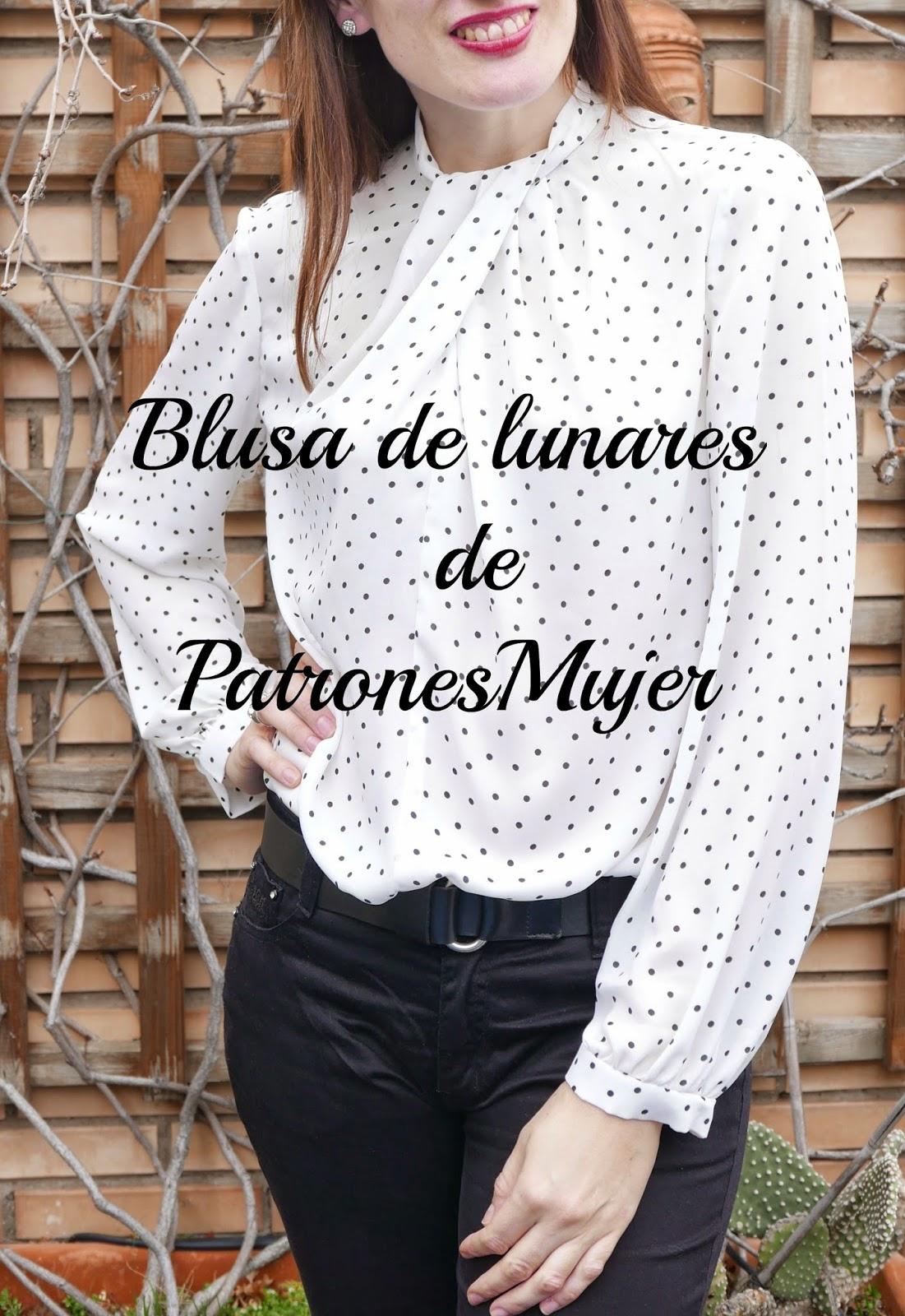 599633b5c Blusa de lunares de patrones mujer ~ Moda en la Costura