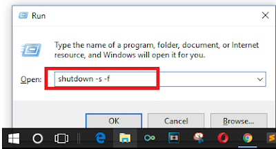 How to force shutdown Windows 10 pc
