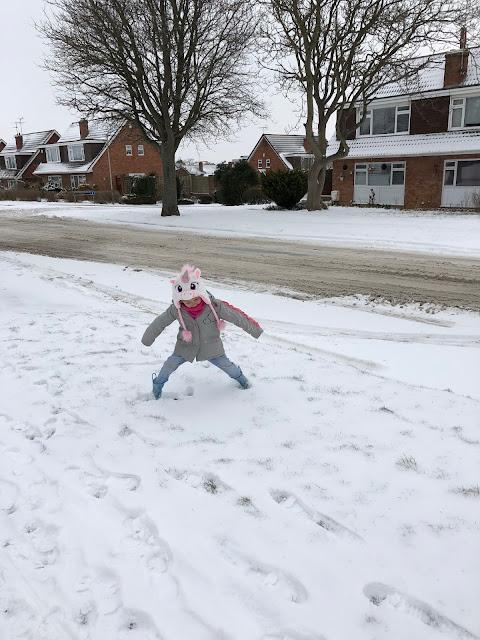 Ellie posing in the snow
