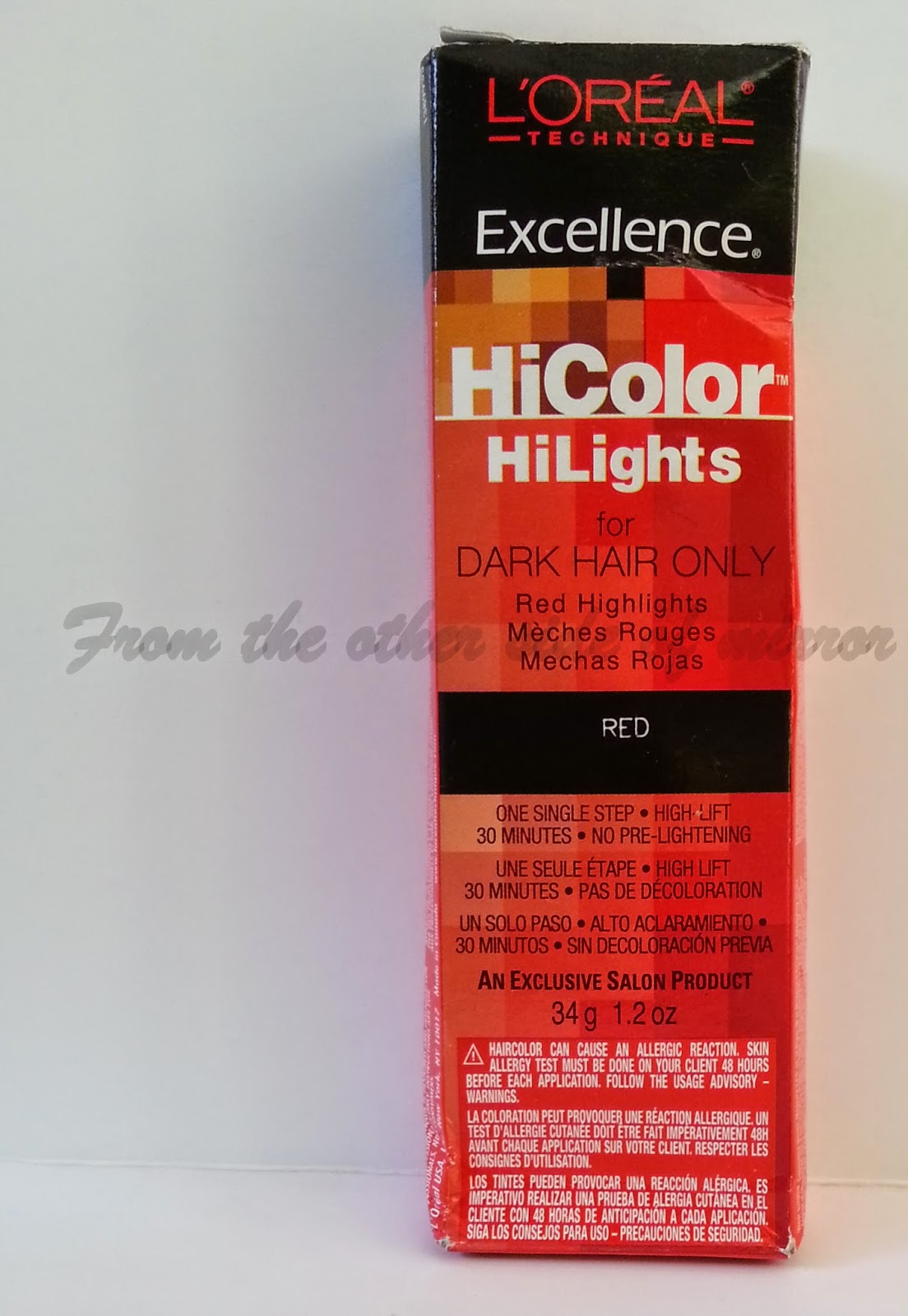 From The Other Side Of Mirror Loreal Hicolor Highlights