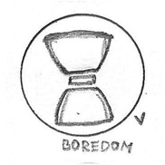 Boredom Icon Drawing