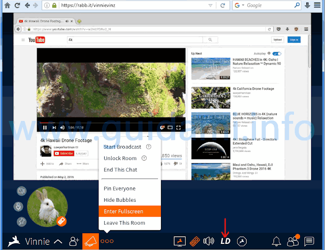 Rabbit riproduzione video streaming