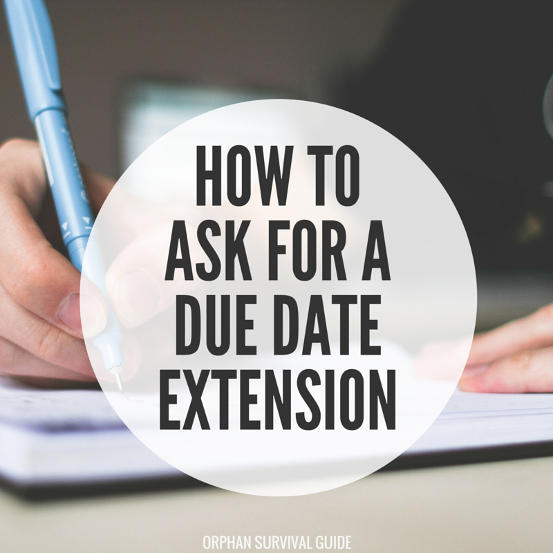how to ask for a due date extension