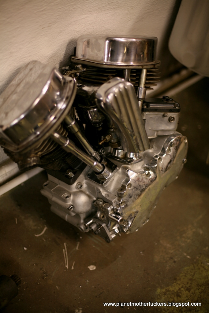 planet motherfuckers 1949 panhead chopper engine