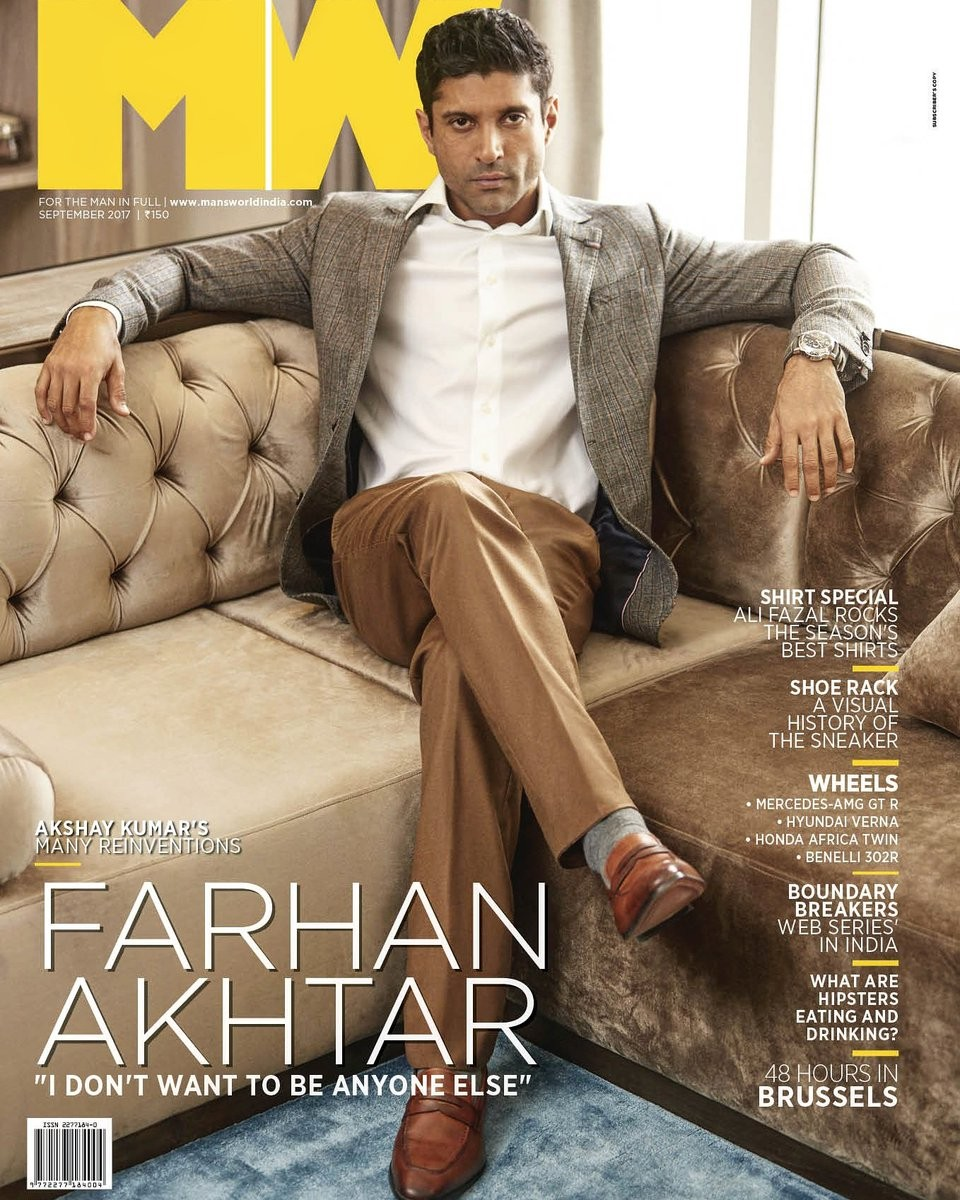 Farhan Akhtar On The Cover of Man's World Magazine September 2017