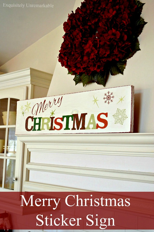 How To Make A Merry Christmas Sticker Sign