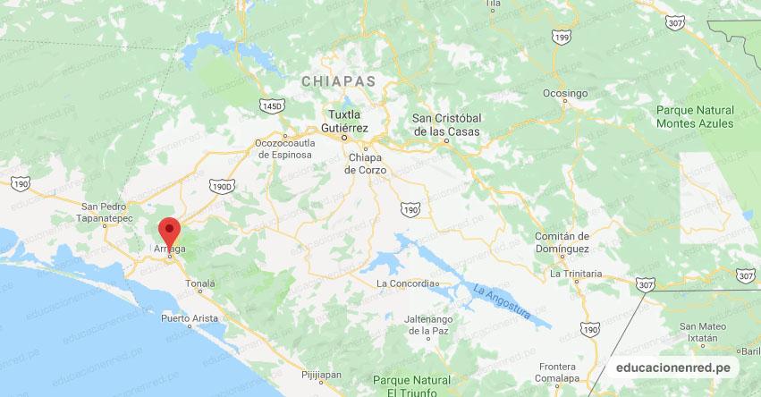 Temblor en México de Magnitud 4.0 (Hoy Domingo 9 Junio 2019) Sismo - Epicentro - Arriaga - Chiapas - www.ssn.unam.mx