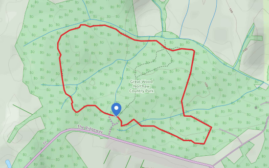 Map for Walk 56: The Great Wood, Northaw
